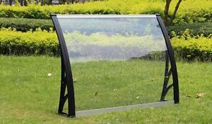 """40""""W×40""""L(100cm×100cm) Polycarbonate Awning for Window & Door House canopy UV protected   ITEM NUMBER 190121"""