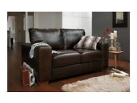 Brand new 2 seater sofa dark brown paid over £700 would accept £499