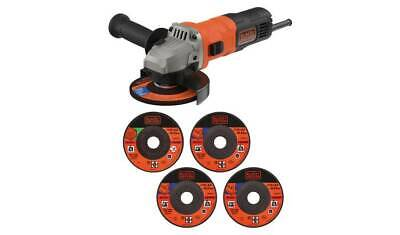 Black & Decker 115mm Angle Grinder & 5 Cutting Discs - 710W Best in