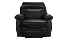 CLEARENCE!! Leather power recliner chair Black