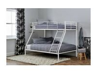 ☀️💚☀️New High Quality☀️💚☀️TRIO METAL BUNK BED FRAME DOUBLE BOTTOM & SINGLE TOP HIGH QUALITY