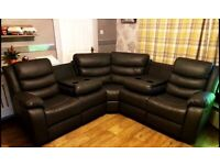 💖🎉Don't wait Order Now Sale on CHICAGO BLACK RECLINER CORNER SOFA AVAILABLE With fast delivery🎉💝