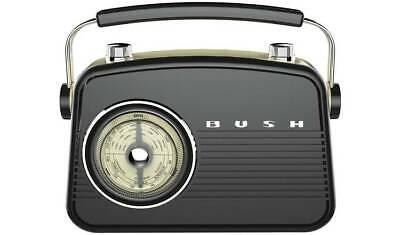 Blue. Bush Classic Retro Analogue Clock Radio