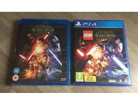 PS4 Starwars Game & Blu-ray Brand New!