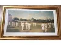 Cricket 1885 art painting