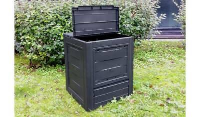 Large 260L Compost Bin Organic Waste Eco Friendly Plastic Recycling Garden Black