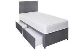 🤍💞PLAIN FABRIC DIVANS SINGLE BED FRAMES ON HUGE SALE💞🤍