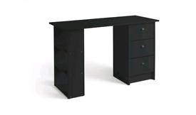Desk, 3 drawers, black