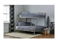 🎆💖🎆Excellent Quality🎆💖🎆 TRIO METAL BUNK BED FRAME DOUBLE BOTTOM & SINGLE TOP HIGH QUALITY