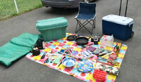 Camping kit w/ propane stove/grill, largecooler and much more!
