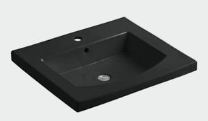 Kohler Persuade Curve Top and Basin Lavatory Single-Hole Faucet.
