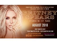 2 x Britney Spears Tickets O2 Sat 25th August
