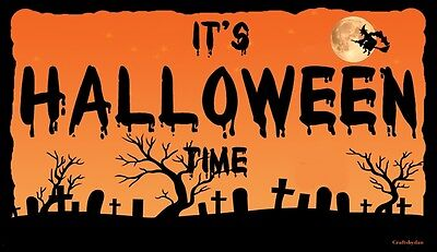 (It's Halloween) WALL DECOR, DISTRESSED, RUSTIC, HARD WOOD, SIGN, PLAQUE](Halloween Wall Decor)