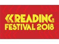 x2 Reading Festival Tickets Sunday 26th Aug 2018