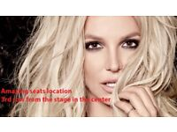 2 Britney Spears Concert Tickets - 25 August 2018 - amazing seats location - O2 Arena London
