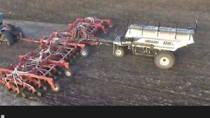 71' Morris seeding drill and Bourgault 6550 cart