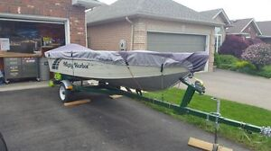 "14"" MISTY HARBOR BOAT w/ 25 HP MERC"