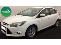 £191.78 PER MONTH WHITE 2014 FORD FOCUS 1.6 TDCi ECO TITANIUM NAVIGATOR MANUAL