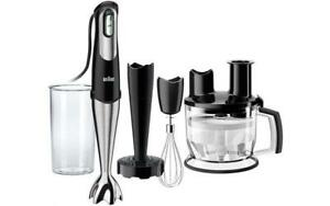 Braun Black And Stainless Steel Hand Blender W Food Pro and Masher MQ777