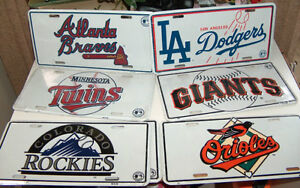 MLB Team Metal Licence Plate Set of 6