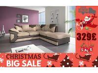 *Winter Sale*BRAND NEW JUMBO CORD DlNO 3 And 2 seater corner sofa