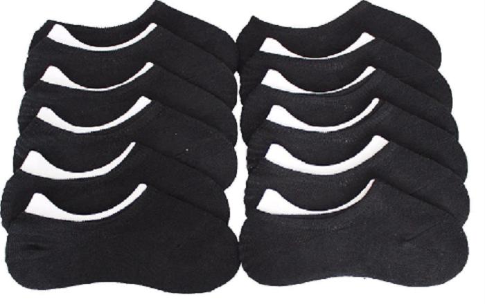 24 Paar Füsslinge Damen Herren Ballerina Sneaker Footies  Socken Silikonstreifen