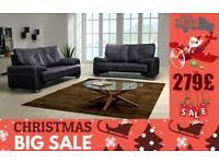 BRAND NEW KISS LEATHR SOFA 3+2 SEATER