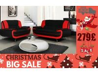 DISCOUNTED OFFER LEATHRE CAROL SOFA 3+2 SEATER