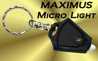 Micro Light-LED Keychain Flashlight SUPER BRIGHT- Photon Emitting LED Torch