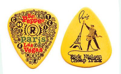 Cheap Trick Rick Nielsen Paris Las Vegas Yellow Guitar Pick - 2010 Tour