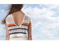 Knitwear design, sampling, production, knitter, machine-knit, hand-knit, crochet, macramé