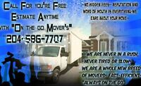 ON THE GO MOVING! FREE ESTIMATES ANYTIME 204-586-7707