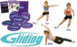 gliding disc maison exercice s ance d 39 entra nement fessier jambe bas gym fitness ebay. Black Bedroom Furniture Sets. Home Design Ideas