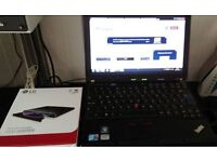 "Lenovo Thinkpad X201 Intel i5 2.4GHz 12.1"" Laptop Win 7, 500GB, 8GB RAM Docking station & new USB"