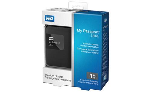 WD My Passport Ultra 1TB External USB 3.0/2.0 Portable Hard Drive Classic Black WDBGPU0010BBK-NESN