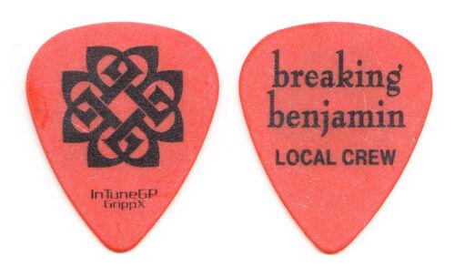 Breaking Benjamin Local Crew Orange Guitar Pick - 2008 Phobia Tour