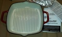 Enamelled cast iron grill pan NEW
