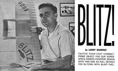 "Model Airplane Plans (UC): BLITZ! 35"" Combat for .36X by Larry Scarinzi"