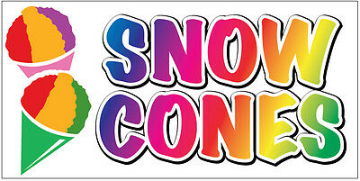 Snow Cones Vinyl Banner 2x3 Ft Concession Sign New - Wb