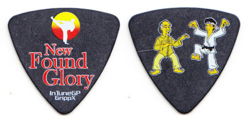 New Found Glory Ian Grushka Karate Kid & Mr. Miyagi Black Bass Guitar Pick - NFG