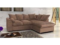 ⭕🛑⭕BRAND NEW ⭕🛑⭕ DYLAN JUMBO CORD CORNER OR 3 AND 2 SEATER SOFA SET --best selling brand