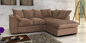 *BRAND NEW DYLAN Dual-Padded Extra Thick Fabric JUMBO CORD Sofa IN 9 DIFFERENT COLORS