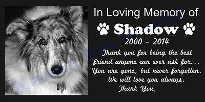 Personalized Pet Headstone Free Engraved on the Grave Marker