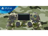 PS4 green camaflage controller