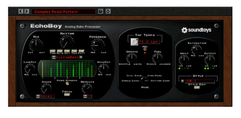 Soundtoys EchoBoy, delay echo modulation tape chorus software download