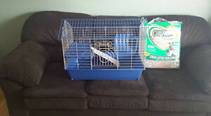 pet cage with bedding Cambridge Kitchener Area image 1