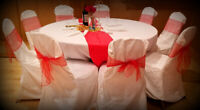 Party Rentals ! Chair covers /Sashes/Centre pieces for rent!