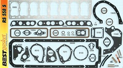 Pontiac 268 Full Engine Gasket Set/Kit BEST COPPER Head+Manifold+Oil Pan 1950-54