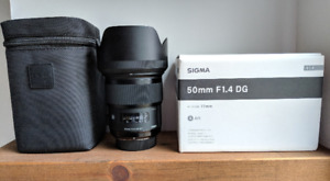 Sigma art 50mm f1.4 for nikon