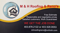 M.H. Roofing & Reno's